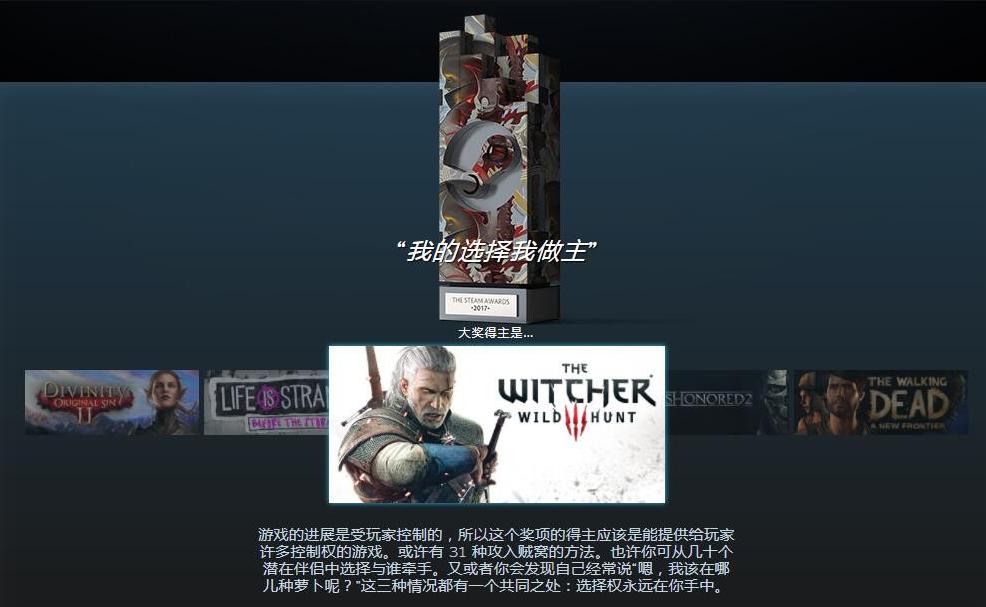 看看Steam平台2017颁布的那些游戏奇葩奖项
