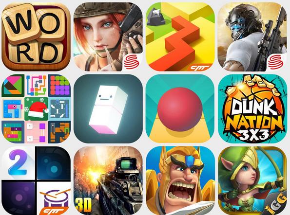 多款国产游戏登上2017美国APP Store单日下载榜前5