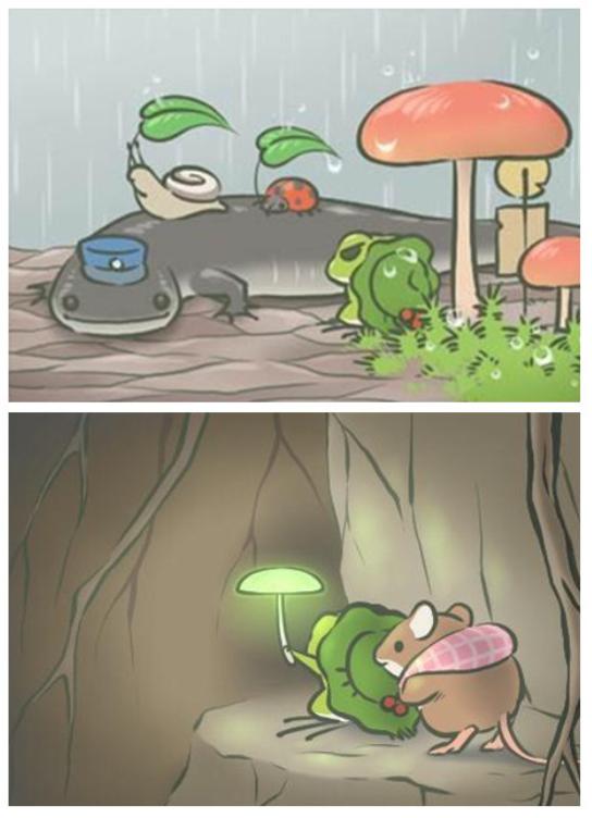 一只青蛙也能火爆朋友圈 你的青蛙去哪旅行了?