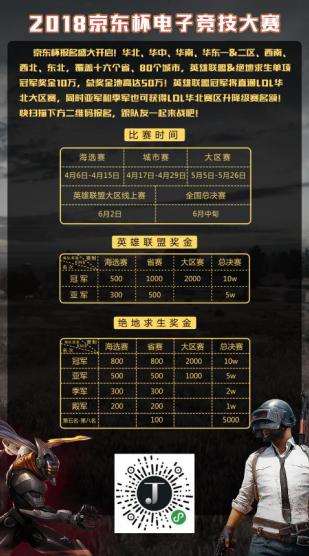 2018京东杯电竞大赛即将开战 你想挑战高手吗