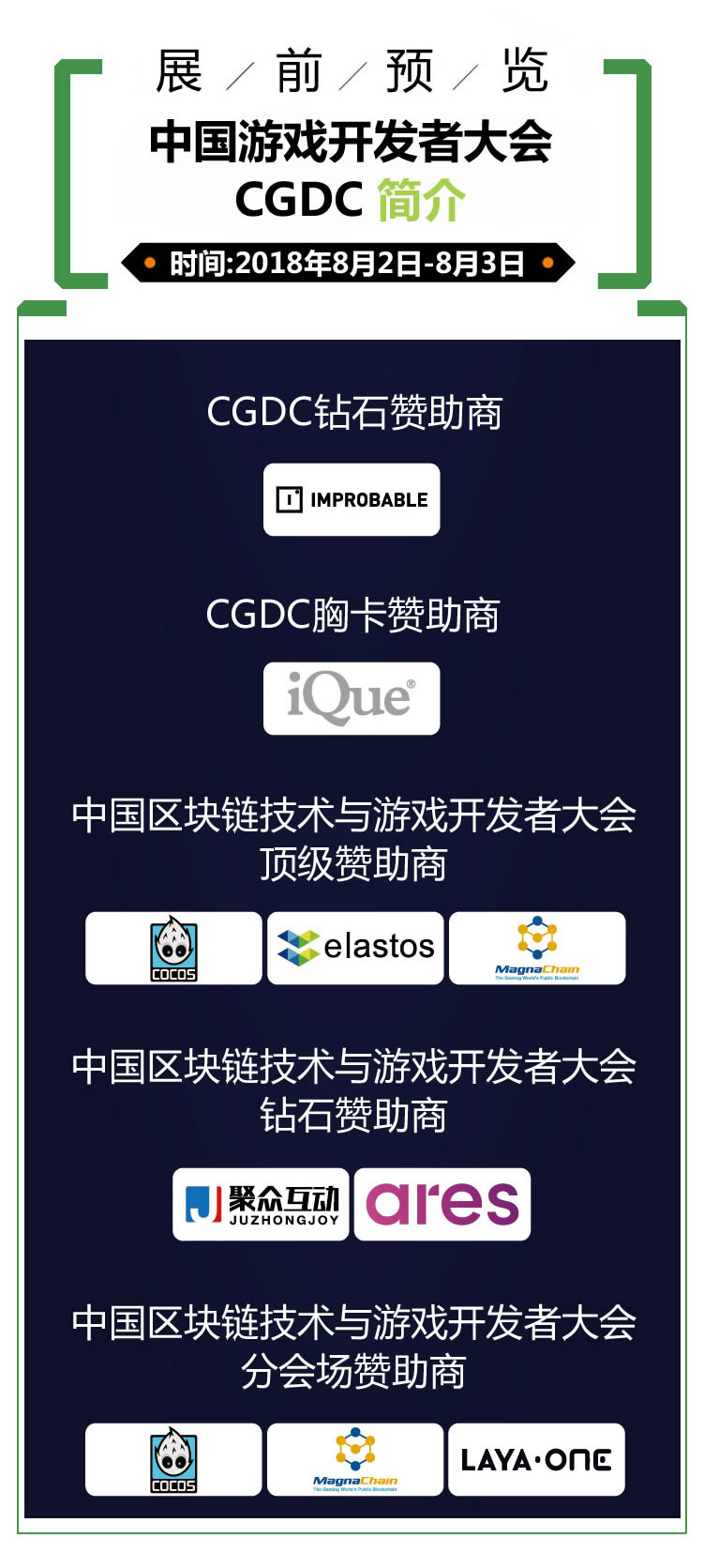 2018年第十六届ChinaJoy展前预览(CGDC篇)正式发布!