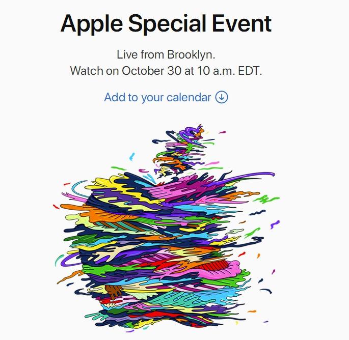 苹果将在10月30日发布会上推出新款iPad Pro