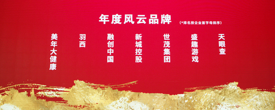 """盛趣游戏荣获 """"年度风云品牌"""",盛趣游戏副总裁谭雁峰则当选为""""首席品牌官""""。"""